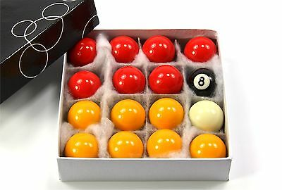 Kids Small 41mm Economy RED & YELLOW POOL Balls - 16 Ball Set – 1 5/8 Inch