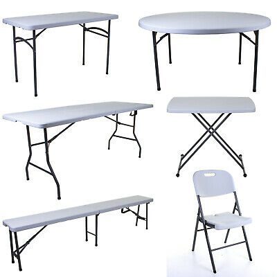 Heavy Duty Folding Table Trestle Camping Picnic Garden Market Party Bbq Market