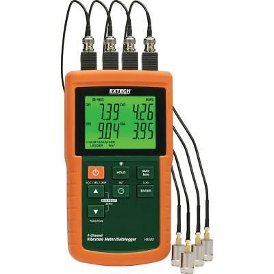 Industrial 4-Channels Vibration Meter Velocity Acceleration Measurement SD Card