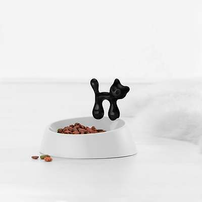 Koziol MIAOU cat kitty plastic pet food bowl black and white made in Germany