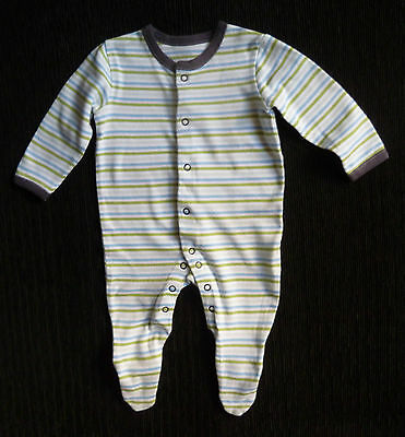Baby clothes BOY 3-6m John Lewis green/blue stripe babygrow COMBINE POST SHOP!