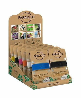 Para'Kito Mosquito Repellent Wrist Bands Refillable Band + 2 Pellets Deet Free