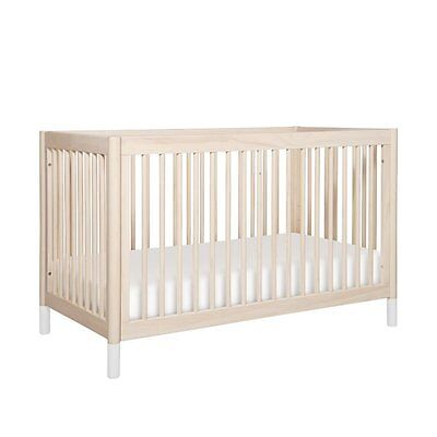 BabyLetto Gelato 4-in-1 Convertible Crib in Washed Natural Transitional