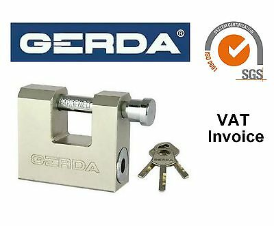 Gerda Heavy Duty Brass Shutter Padlock Security Straight Shackle 50-70 mm KSWT