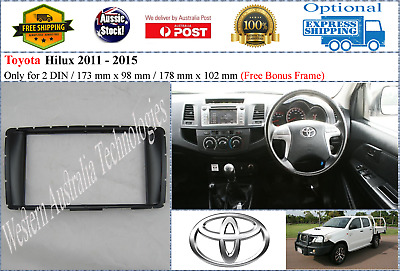 Fascia facia Toyota Hilux 2011+ dash kit adapter panel Stereo DVD GPS Radio
