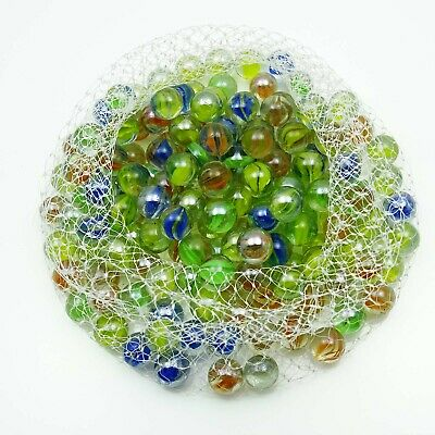 Multicolor Assortment Game Boulder Shooter Glass Swirl Classic Marbles 30 Pieces