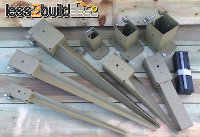 "2,3&4"" Timber Fence Post Grip Support Spike Bolt Down Repair Spike Like Metpost"