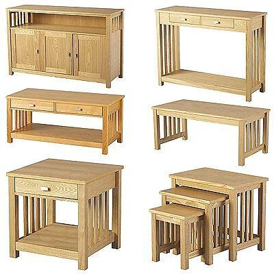 Ashmore Sideboard & Table - Coffee, Lamp, Console, Nest Of 3 Tables - Ash Veneer