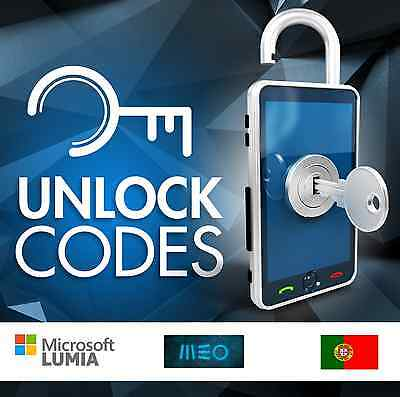 UNLOCK MICROSOFT / NOKIA MEO PORTUGAL - all models - fast service -NO IPHONE