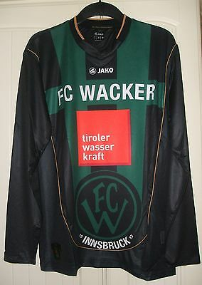 Brand New Genuine Jako FC Wacker Innsbruck 2011/12 Home L/S Shirt  Adults M & L