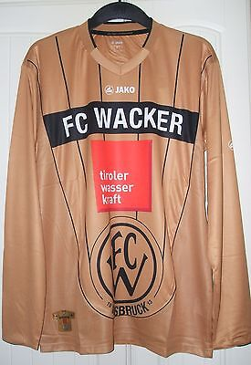 Brand New Genuine Jako FC Wacker Innsbruck 2011/12 Away L/S Shirt  Adults LARGE