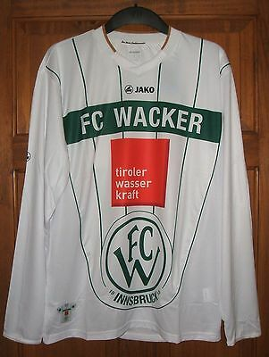 Brand New Genuine Jako FC Wacker Innsbruck 2011/12 3rd Away L/S Shirt Adults M L