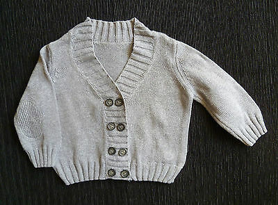 Baby clothes BOY 6-9m Mothercare grey cardigan V-neck COMBINE POST!  SEE SHOP!
