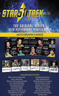 STAR TREK TOS 50th ANNIVERSARY Autograph Cards VERY LIMITED