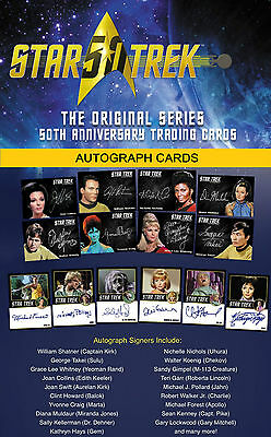 STAR TREK TOS 50th ANNIVERSARY Autograph Cards LIMITED