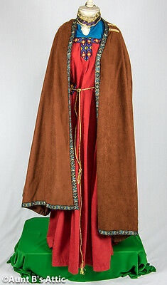Renaissance Dress Maid Marion 4pc Deluxe Reenactment Cos Play Halloween Costume