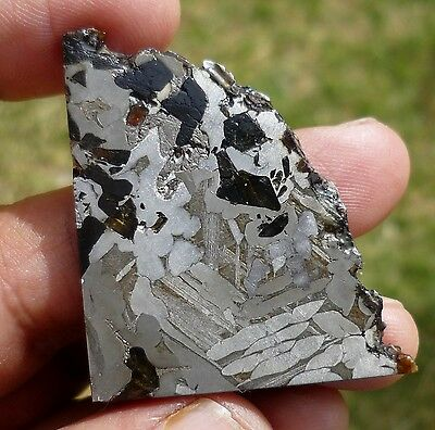 29.8 gram SEYMCHAN METEORITE pallasite - BEAUTIFUL CRYSTALS under $7 per gram!