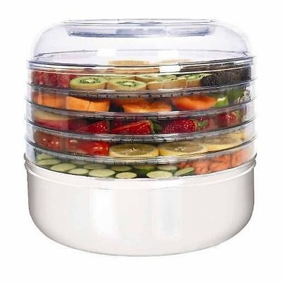 Ronco Electric Food Fruit Vegetable Dehydrator 5 Tray Kit Dryer Cylindrical