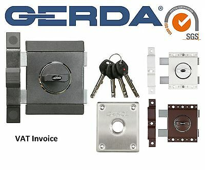 Gerda High Quality Surface Mounted Door Lock Home Office Shop 4 Keys ZX Deadlock