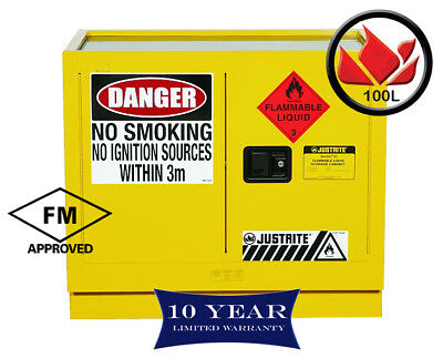 100L Dangerous Goods Storage Flammable Liquid Safety Cabinet 10yr Wty FireResis
