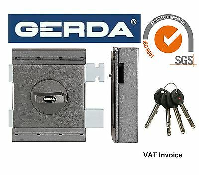 Gerda High Quality Surface Mounted Door Lock Deadlock Home Office Shop 4 KeysZXZ