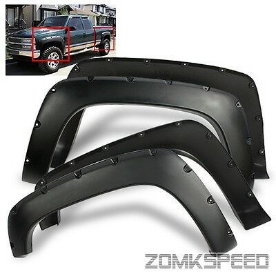 For 88-98 GMC/Chevy Full Size C/K 1500 Pocket Riveted Fender Flares Protectors