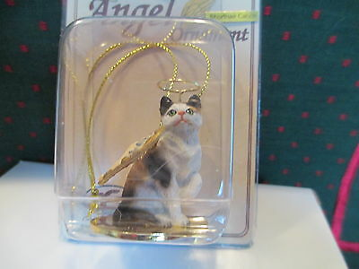 Cat ~ Calico  Shorthair  ~ Angel Ornament  #cta05