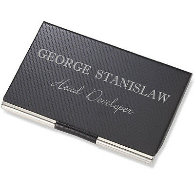 Personalized Carbon Fiber Business Card Credit Card Holder Case Engraved Free