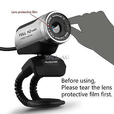 AUSDOM AW615 Full HD 1080P 12MP USB 2.0 Webcam Web Camera Mic for PC Laptop