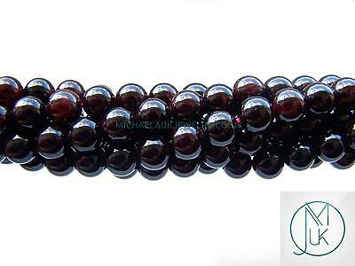 Garnet Natural Gemstone Rounds Beads 8mm Jewellery Making (47-50 Beads)