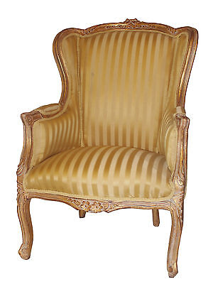 French Louis Tub Gold  Shabby Chic Bedroom Hallway Wooden Frame Chair Arm