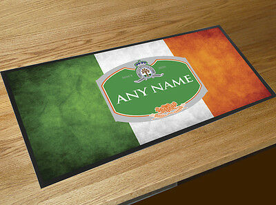 Personalised Irish Flag green beer label Bar runner pubs clubs St Patricks Day