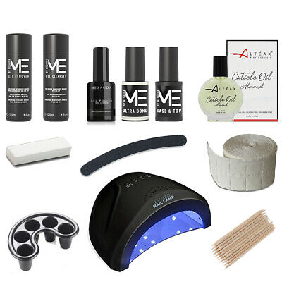 KIT SEMIPERMANENTE UNGHIE SMALTO MESAUDA MILANO GEL POLISH 5ml COMPLETO FORNETTO