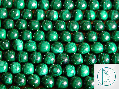 Genuine Natural Malachite Round Beads 8mm Jewellery Making NOT SYNTHETIC