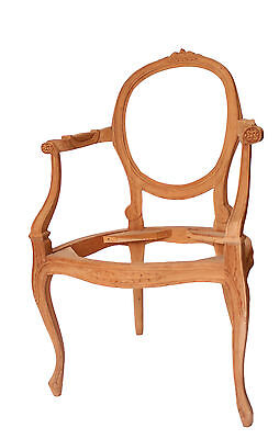 French Louis Chair Antique Style Frame Only Solid Wood Frame Victorian Arm