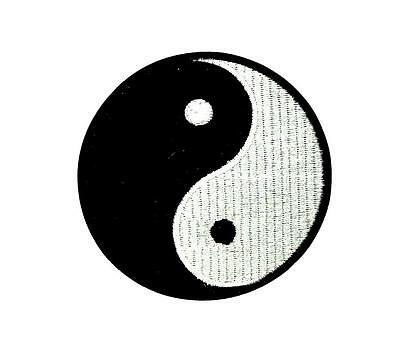 Patch ecusson brodé drapeau backpack ying yang thermocollant