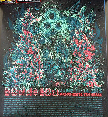 Bonnaroo 2015 18 x 24 Poster Signed & Numbered #/50 Artist Proof Mumford & Sons