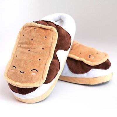 S'Mores USB Heated Warm Plush Slippers Detachable Cable By Smoko