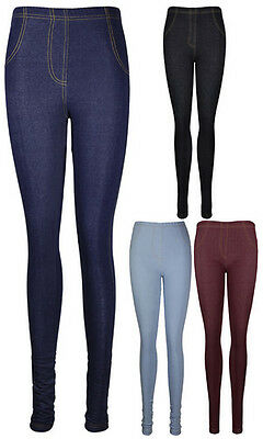 Womens GIRLS Fitted Ladies Denim Stretch Jeggings Long Trousers Jeans Leggings