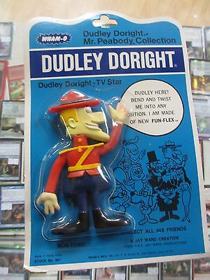 Wham-O Dudley Doright Cartoon Show Bendable Figure Toy 1972 Mint On Card!