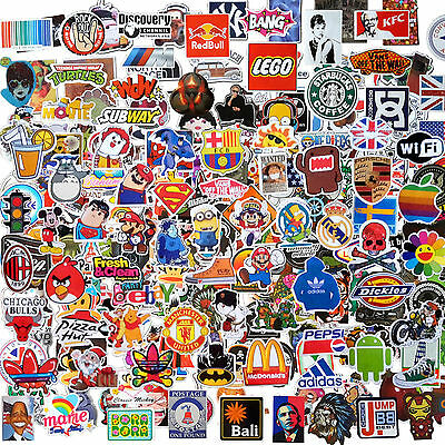 Assortimento Di 50 Adesivi Assortiti In Pvc Sticker Autoadesivi Assortiti