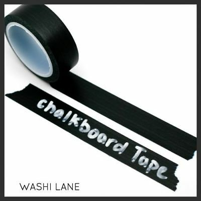 Black Chalkboard Tape 15mm x 5m Chalk Board Blackboard Solid Colour Scrapbooking