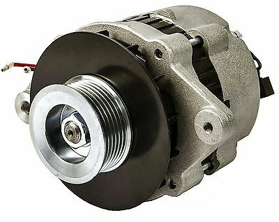 55 Amp 12V Marine Alternator with Serpentine Pulley for Mercruiser