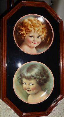 Bessie Pease Gutmann 6 Framed Collector plates The Hamilton Collection