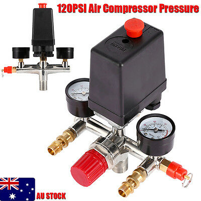 New Single Phase Air Compressor Pressure Switch With Regulator&Value&Gauge