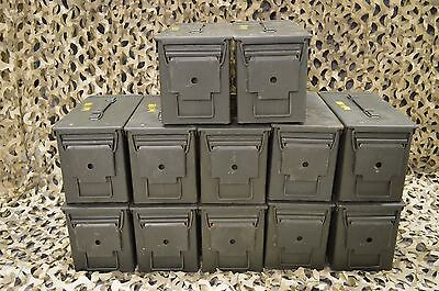MILITARY( 12 PACK ) 50 Cal M2A1 AMMO CAN GREAT CONDITION * FREE SHIPPING  *