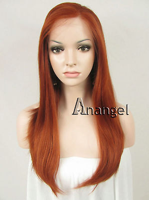 New Fashion Sexy Synthetic Lace Front Wig Golden Women Wavy Heat Resistant Hair