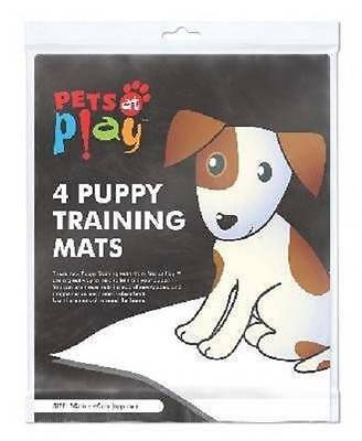 ** PETS PLAY 4 X PUPPY TRAINING MATS NEW ** 50 X 40 cm