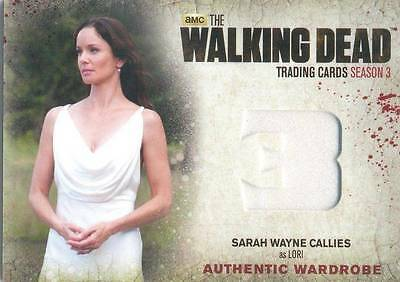WALKING DEAD SEASON 3 PART 1 Relic / Wardrobe Card from Lori M26
