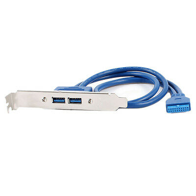 50cm 20 Pin Header Cable to USB 3.0 Type A Female PCI Bracket MJ